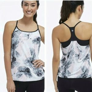 FABLETICS Norwalk Patterned Tank with Built In Bra
